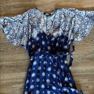 Lulus brand flutter sleeve maxi wrap dress!